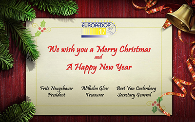 the eurofedop team wishes you and your family a wonderful christmas and a happy new year